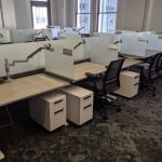 height adjustable steelcase benching cubicles 6