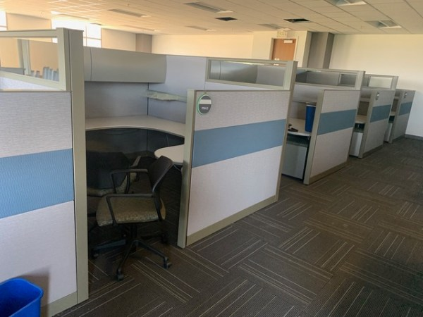 steelcase answer cubicles 8x8 loaded 3