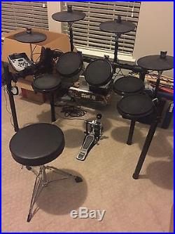Lightly Used Alesis DM7X Electronic Drum Set with Throne   Used Drum     Lightly Used Alesis DM7X Electronic Drum Set with Throne