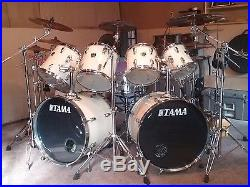 TAMA 9 pc  Drum set with cymbals and hardware   Used Drum Sets TAMA 9 pc  Drum set with cymbals and hardware