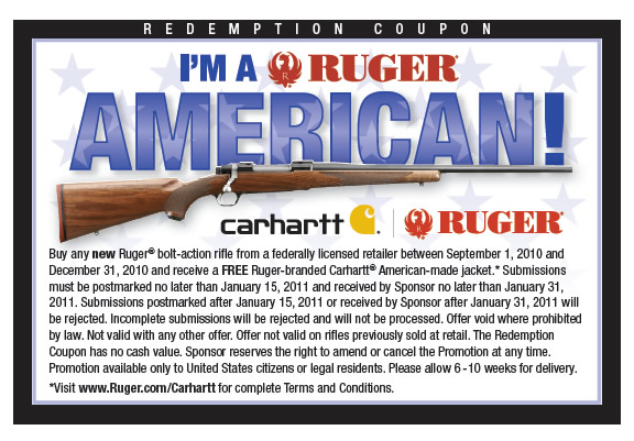 Ruger Rifle Carhartt Promotion