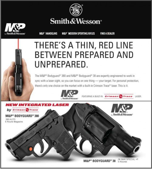 New M&P® BODYGUARD® Handguns with Crimson Trace®
