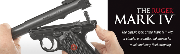 Ruger Mark IV with simple tear down