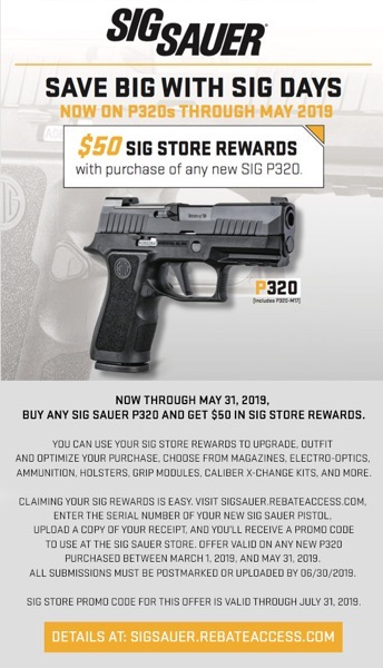 SigSauer Rebates