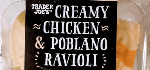 Creamy Chicken & Poblano Ravioli