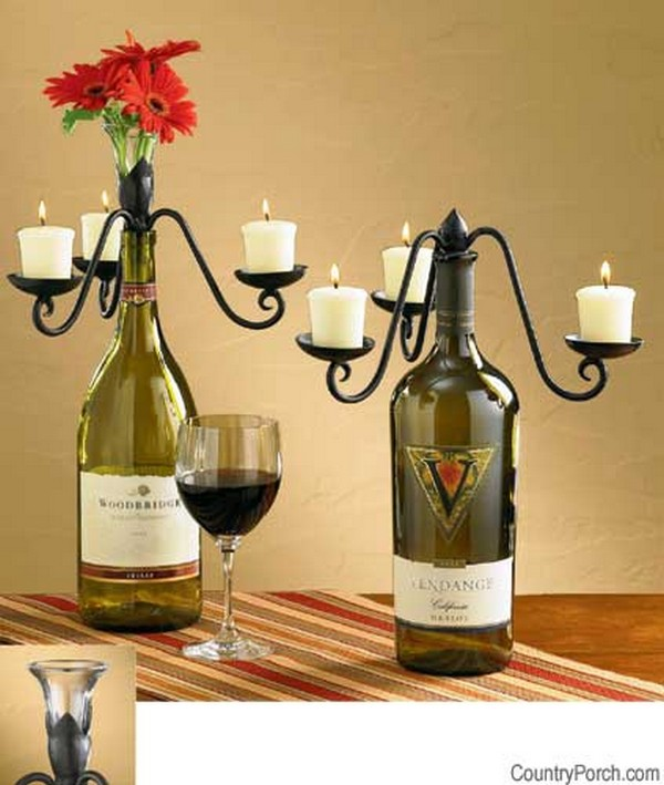 Superior Wine Bottle Crafts Part - 12: 17 Fascinatingly Beautiful DIY Wine Bottle Crafts To Accessorize Your Decor  Usefuldiyprojects.com (5