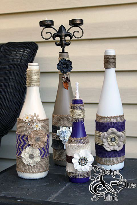 17 Fascinatingly Beautiful DIY Wine Bottle Crafts To Accessorize Your Decor usefuldiyprojects.com (8)