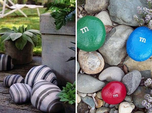 21 Lovely DIY Decor Ideas Emphasized by Creative Pebbles Art  usefuldiyprojects.com crafts (19)