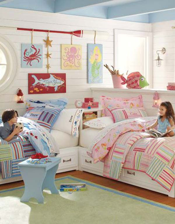 21 Smart and Creative Girl and Boy Shared Bedroom Design Ideas  usefuldiyprojects.com design ideas (3)