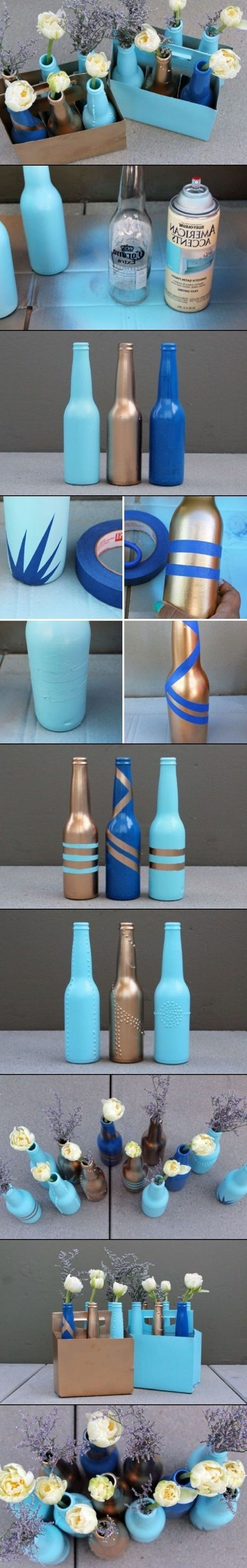 23+ Fascinating Ways To Reuse Glass Bottles Into DIY Projects Creatively usefuldiyprojects.com ideas (13)