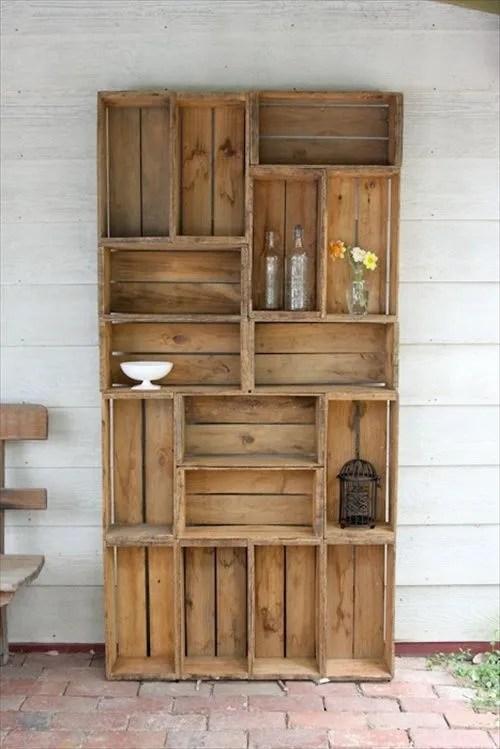 wooden crates furniture. 29 ways to be sustainable by decorating with wooden crates furniture