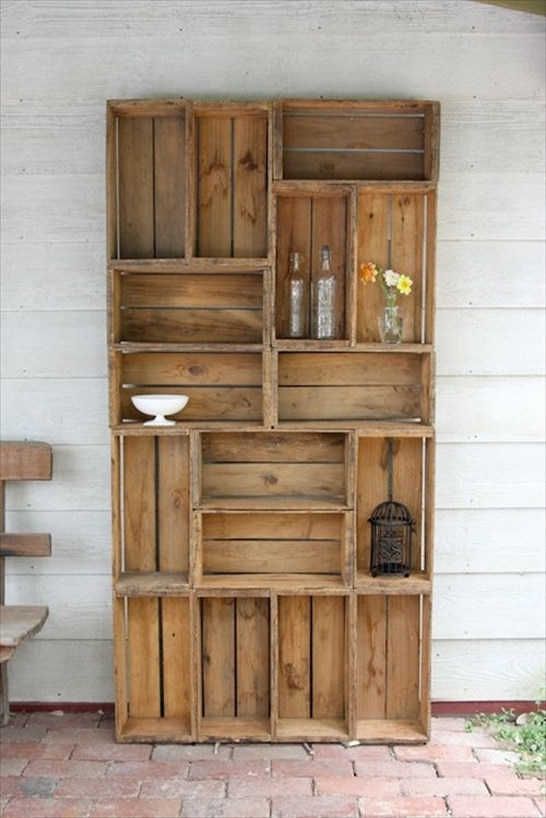 Awesome 29 Ways To Be Sustainable By Decorating With Wooden Crates