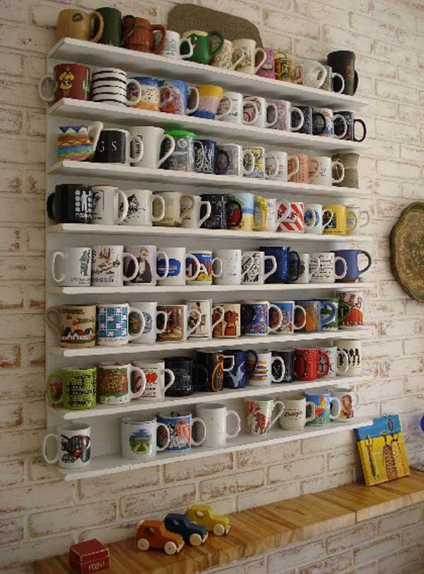 30 Extraordinary Creative and Graphic DIY Mug Storage To Beautify Your Kitchen  usefuldiyprojects.com decor (10)