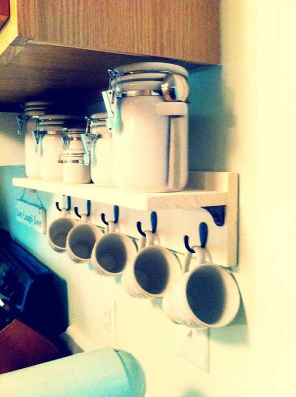 30 Extraordinary Creative and Graphic DIY Mug Storage To Beautify Your Kitchen  usefuldiyprojects.com decor (16)