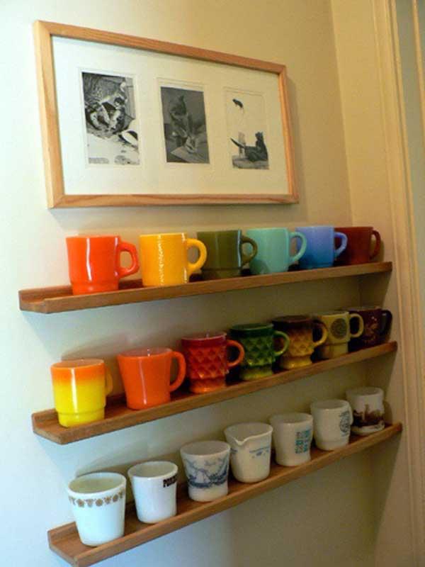 30 Extraordinary Creative and Graphic DIY Mug Storage To Beautify Your Kitchen  usefuldiyprojects.com decor (23)