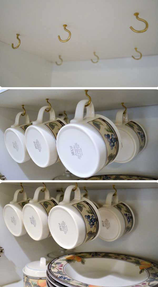 30 Extraordinary Creative and Graphic DIY Mug Storage To Beautify Your Kitchen  usefuldiyprojects.com decor (24)