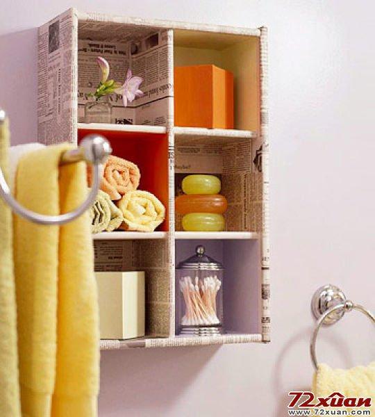 9 Wall Storage Ideas That You Need To Try: DIY Bathroom Storage Ideas