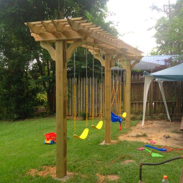 25 Beautifully Inspiring DIY Backyard Pergola Designs For Outdoor Enterntaining usefuldiyproject pergola design (20)