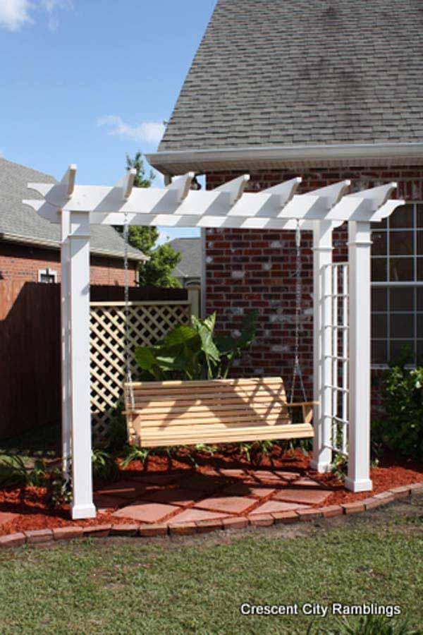 25 Beautifully Inspiring DIY Backyard Pergola Designs For Outdoor ...