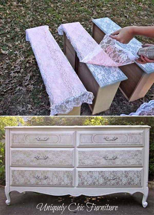 22 Mesmerizing Homemade DIY Lace Crafts To Beautify Your Home usefuldiyprojects.com (6)