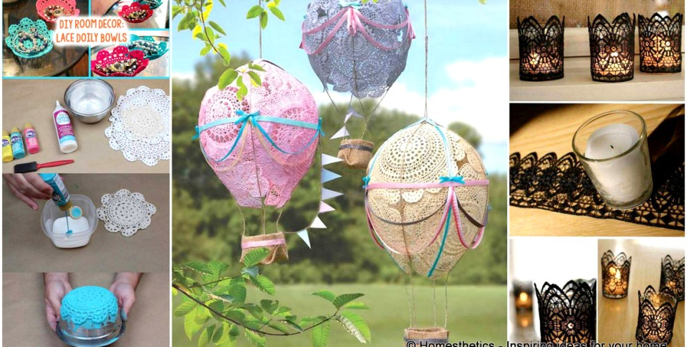 22 mesmerizing homemade diy lace crafts to beautify your home solutioingenieria Images