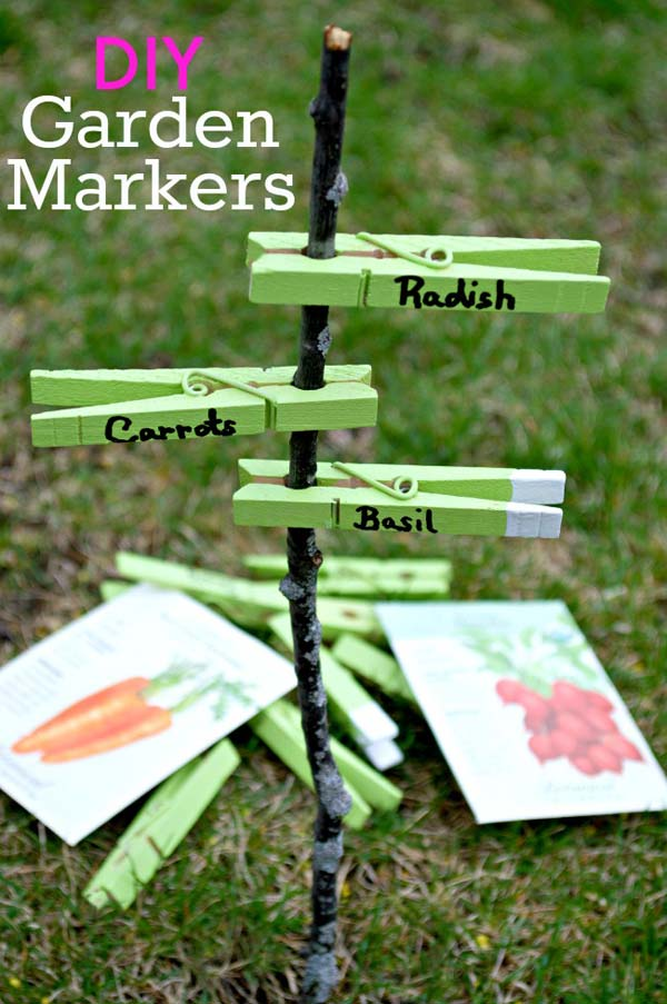 19 Brilliant No-Money Ideas to Label The Plants in Your Garden (17)