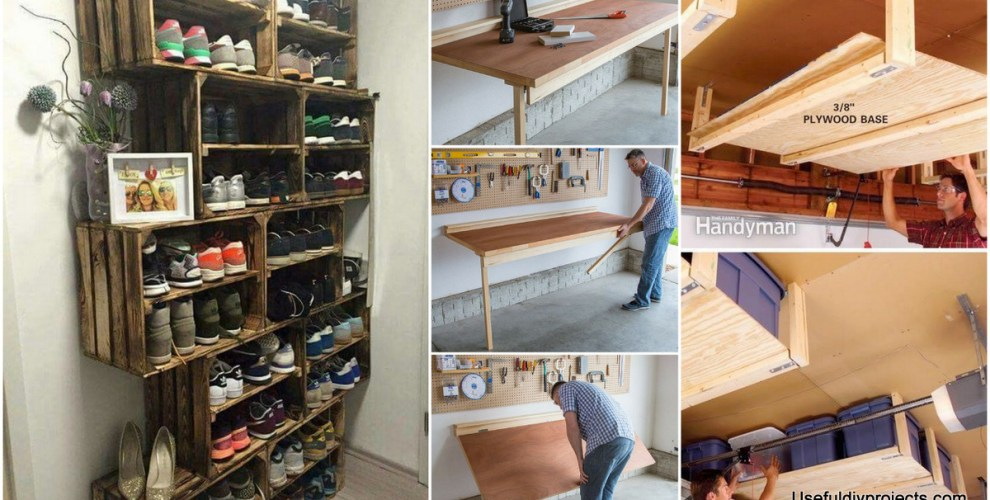 Organize Your Items With These 17 Garage Storage Ideas - Useful DIY on cheap garage wall ideas, garage addon ideas, cheap nursery storage ideas, cheap bath storage ideas, garage shelving ideas, cheap garage shelving, cheap garage diy, garage organization ideas, cheap painting ideas, cheap garage organization, garage design ideas, workshop ideas, cheap patio storage ideas, do it yourself storage ideas, cheap insulation ideas, cheap playsets ideas, cheap bedding ideas, cheap gifts ideas, cheap storage units, cheap classroom storage ideas,