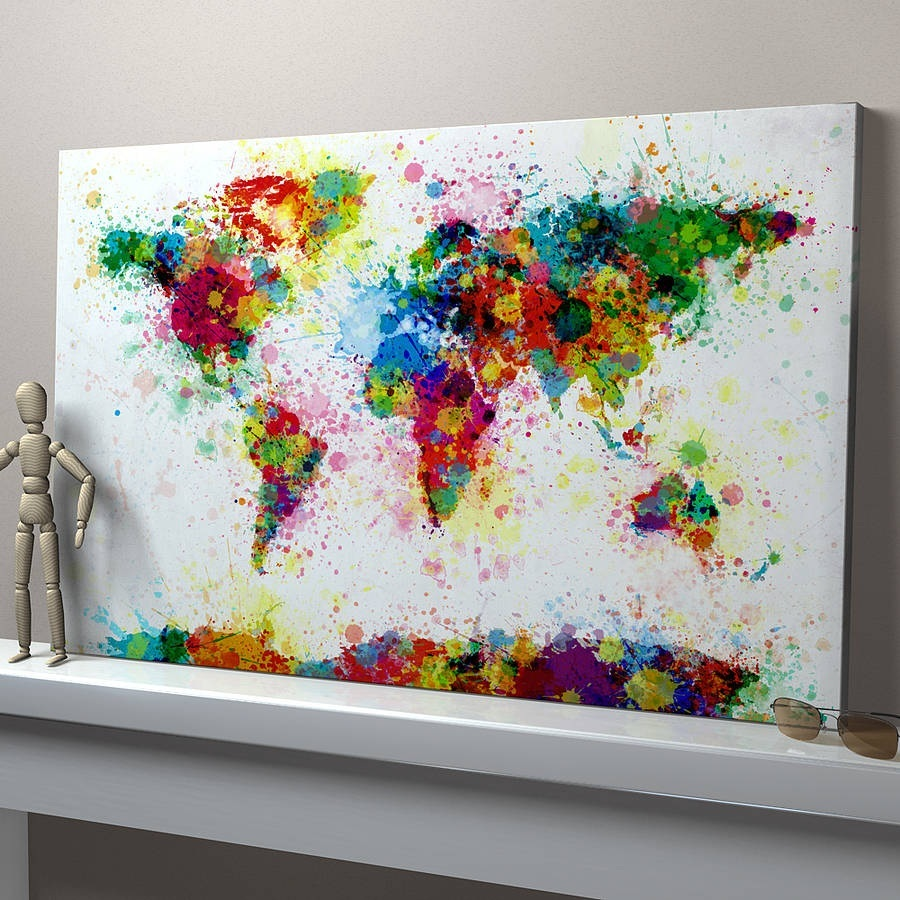 superb Do It Yourself Canvas Painting Part - 9: MAKE A SPLASH IN THE PROCESS OF CANVAS PAINTING