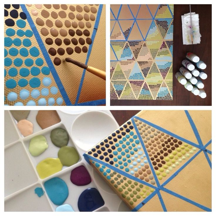 exceptional Patterns To Paint On Canvas Part - 15: YOU CAN CREATE PATTERNS BY USING TAPE AS GUIDELINES