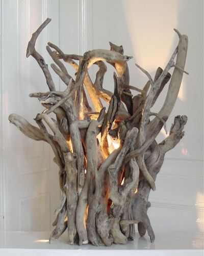 29. Mix the strangest pieces you can gather in a chaotic looking lamp