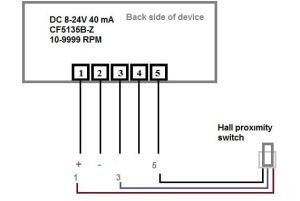 Usefulldata | Digital LED RPM speedometer tachometer with Hall senzor review and wiring diagram