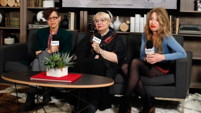 PARK CITY, UT - JANUARY 27: Director/writer Ilinca Calugareanu, translator/film critic Irina Margareta, and producer Mara Adina attend The Variety Studio At Sundance Presented By Dockers Day 4 on January 27, 2015 in Park City, Utah. (Photo by Joe Scarnici/Getty Images for Variety)
