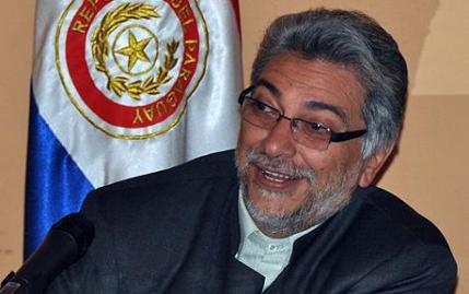 The President of Paraguay Fernando Lugo speaks during a press conference to announce he will comply with the Paraguayan justice on the paternity case, on April 20, 2009 in Asuncion. Earlier today, Benigna Leguizamon, 27, gave Lugo a one-day period to acknowledge the paternity of Lucas Fernando Leguizamon, an alleged son of his, otherwise she would start a lawsuit. AFP PHOTO/Norberto Duarte (Photo credit should read NORBERTO DUARTE/AFP/Getty Images)