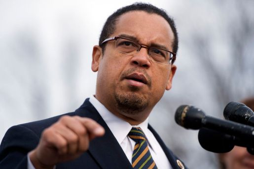 "UNITED STATES - DECEMBER 20: Rep. Keith Ellison, D-Minn., speaks at a news conference at the House Triangle with faith leaders to urge Congress to protect programs such as Social Security, Medicaid, and Medicare and call on lawmakers make sure ""everyone pays their fair share."" (Photo By Tom Williams/CQ Roll Call)"