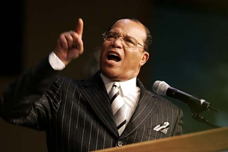 (Caption Information) Honorable Minister Louis Farrakhan, Leader, Nation of Islam is seen during his speech.Rosa Parks Funeral at Greater Grace Temple Church.Detroit, Mi, November 2, 2005, Detroit, MI. (The Detroit News/Clarence Tabb, Jr.)