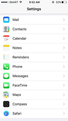 Phone Submenu
