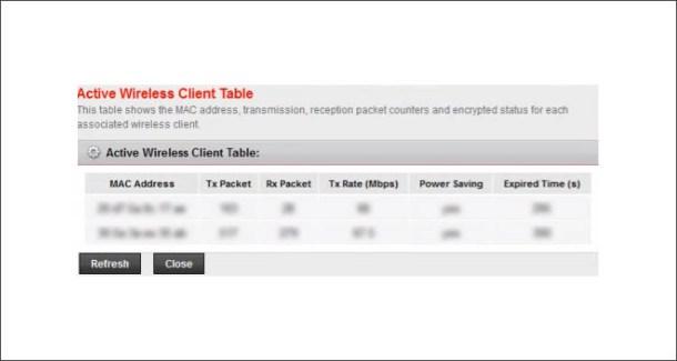 Active Clients List in PLDT BaudTec Modem