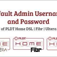 Default Admin Username and Password of PLDT Home DSL Fibr Ultera