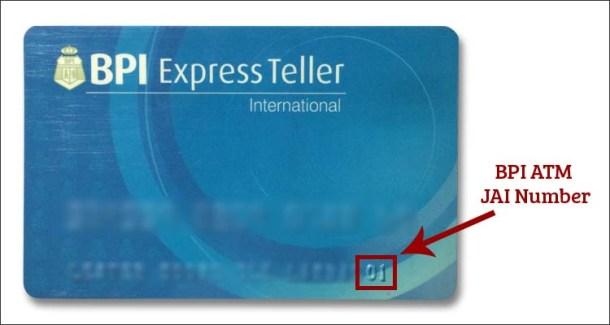 BPI ATM Card JAI Number