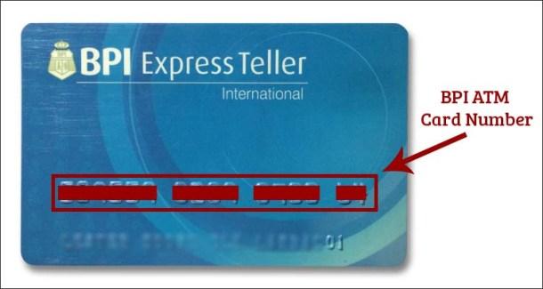 BPI ATM Card Number