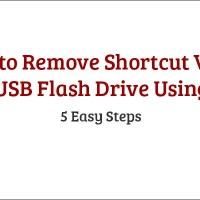 How to Remove Shortcut Virus from USB Flash Drive Using CMD