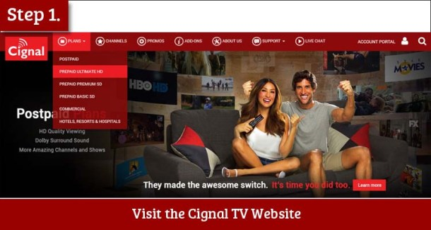 Step 1 Visit the Cignal TV Website