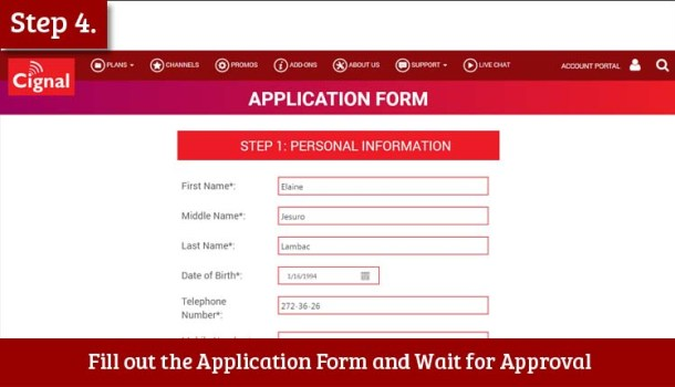 Step 4 Fill out the Application Form and Wait for Approval
