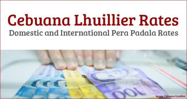 Cebuana Lhuillier Rates