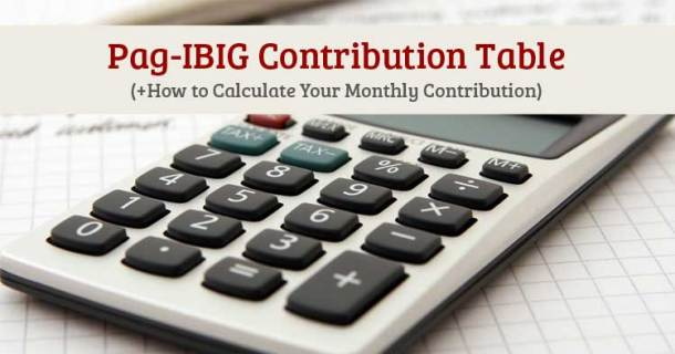 Pag-IBIG-Contribution Table