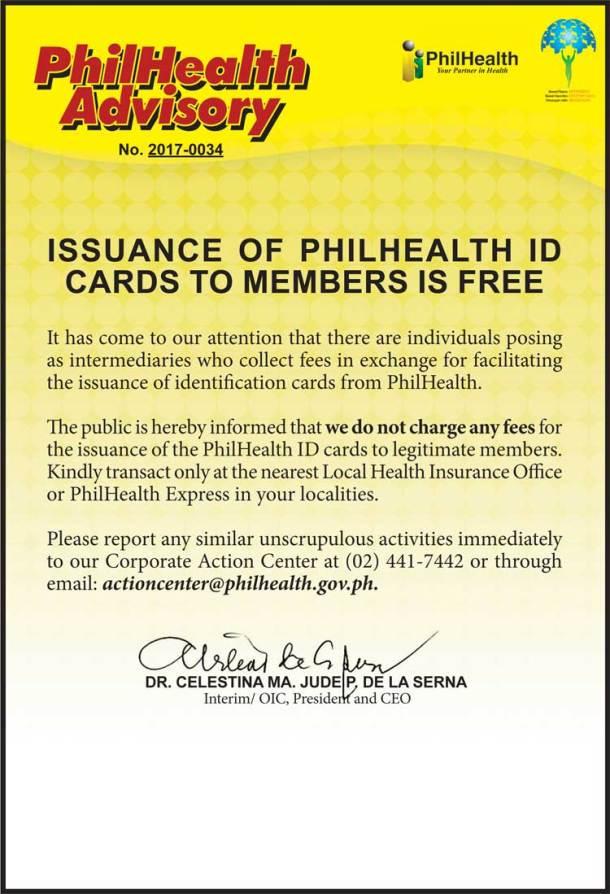 PhilHealth Advisory