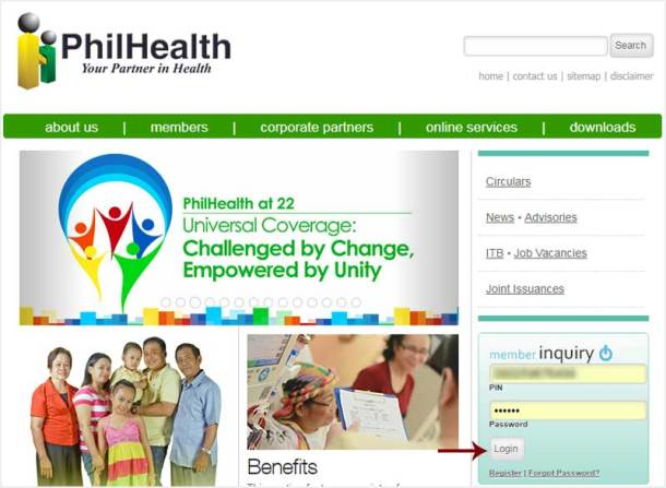 Step 1 PhilHealth Online Account