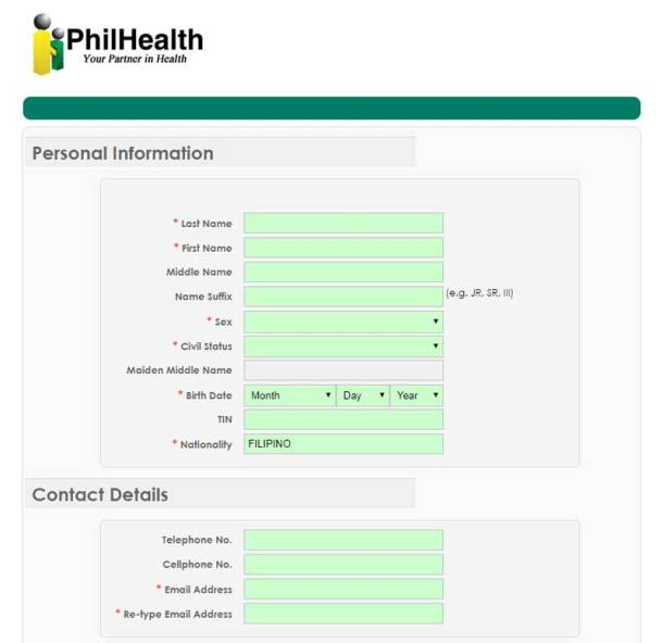 Step 3 PhilHealth Registration Form