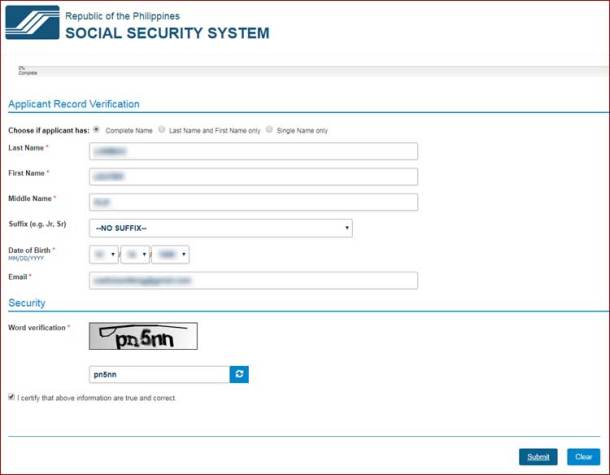 Step 4 Application for Social Security Number