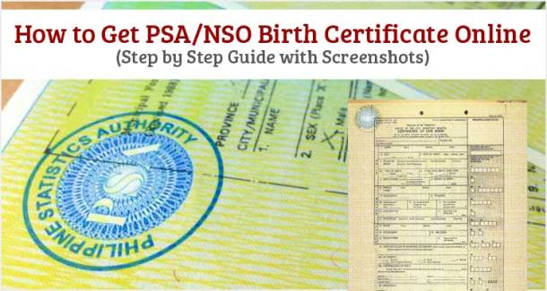 how to get psa or nso birth certificate online - useful wall